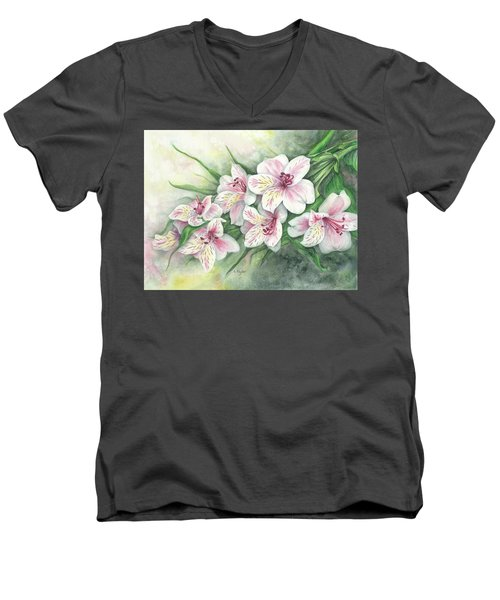 Peruvian Lilies Men's V-Neck T-Shirt