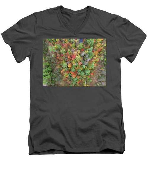 Men's V-Neck T-Shirt featuring the photograph Pickeral Lake 10121704 by Rick Veldman