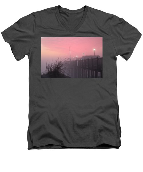 Pink Fog At Dawn Men's V-Neck T-Shirt