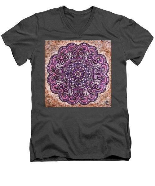 Pink Mandala Men's V-Neck T-Shirt