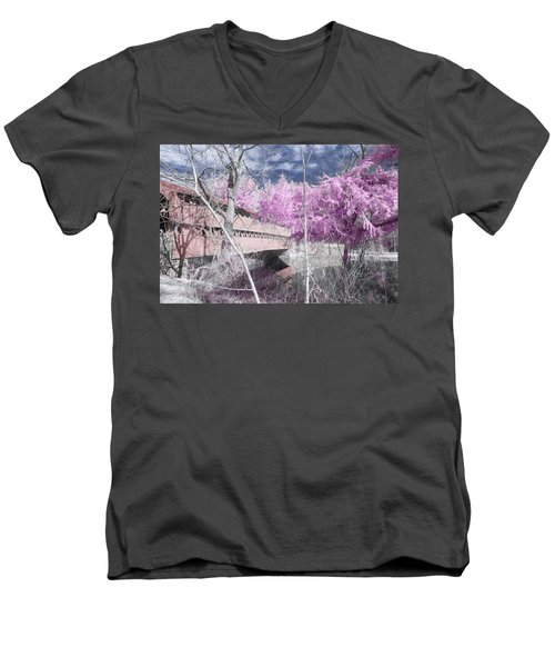 Pink Sachs Men's V-Neck T-Shirt