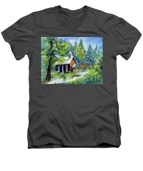 Pioneer Union Church Men's V-Neck T-Shirt