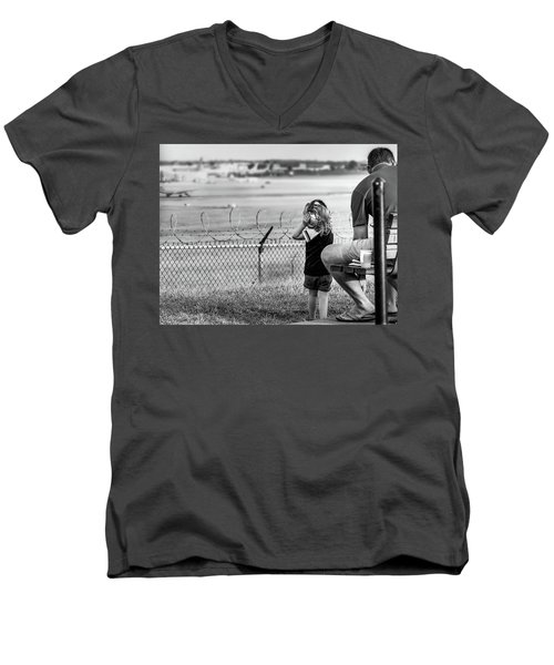 Plane Watching Men's V-Neck T-Shirt
