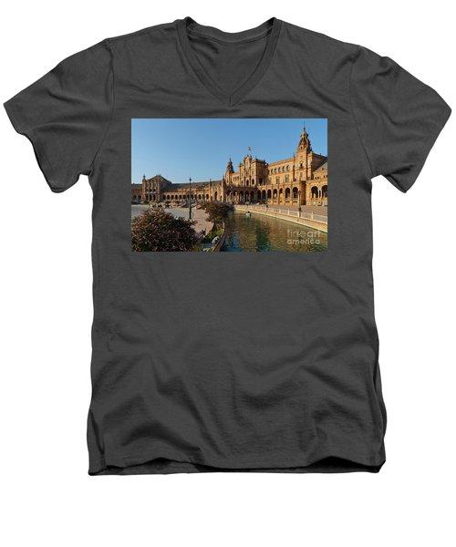 Plaza De Espana Bridge View Men's V-Neck T-Shirt
