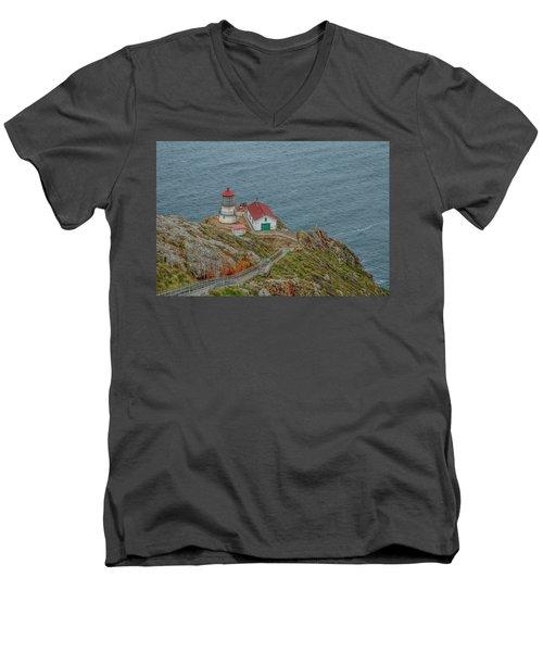 Point Reyes Lighthouse Men's V-Neck T-Shirt
