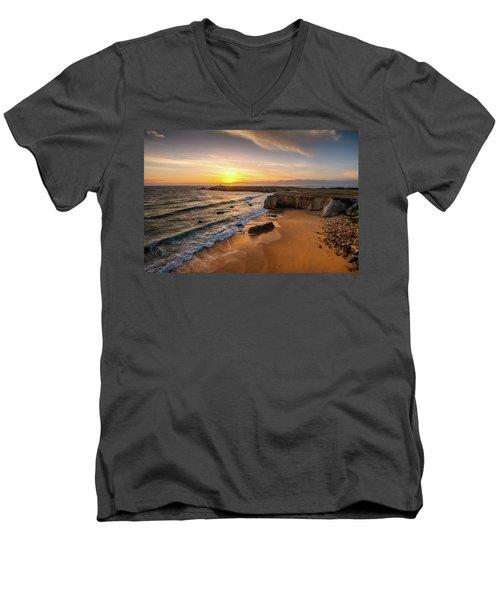 Pointe Du Percho And Port Blanc Men's V-Neck T-Shirt