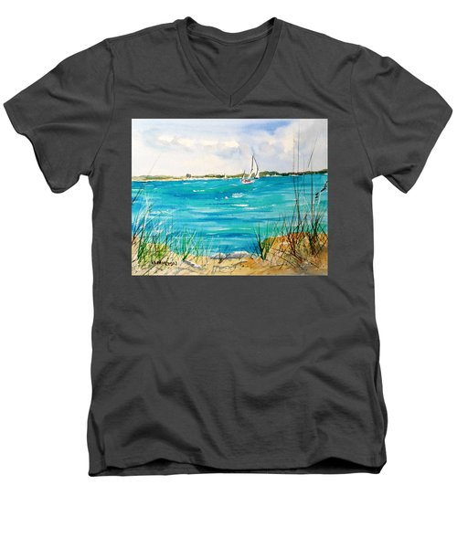 Ponce Inlet Men's V-Neck T-Shirt