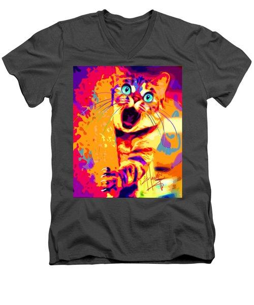 pOpCa PeekaBoots Men's V-Neck T-Shirt