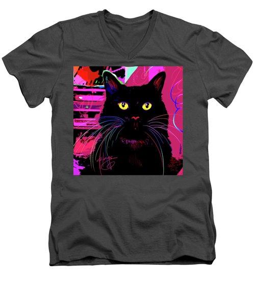 pOpCat Morticia Men's V-Neck T-Shirt