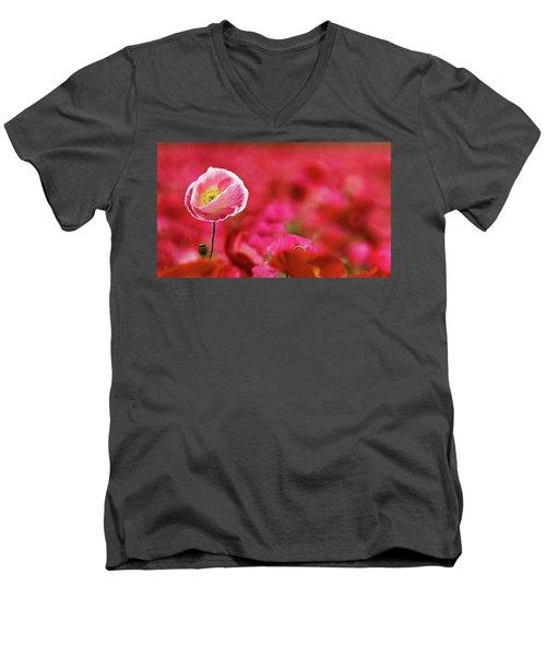 Poppy Standing Tall Men's V-Neck T-Shirt