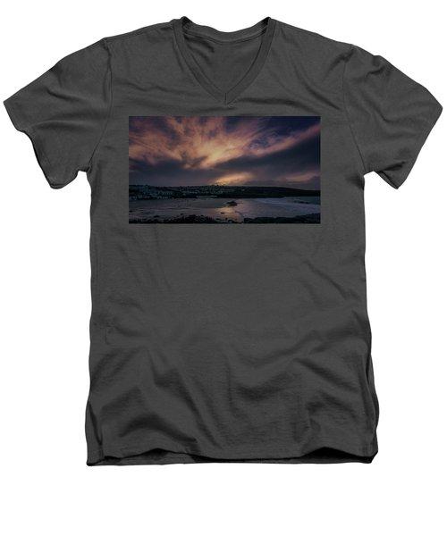 Porthmeor Sunset 4 Men's V-Neck T-Shirt