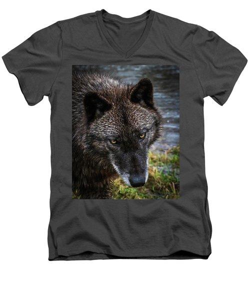 Portrait Niko Men's V-Neck T-Shirt
