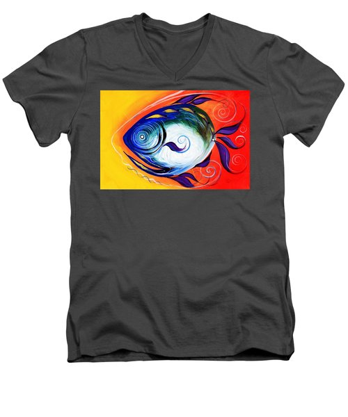 Positive Fish Men's V-Neck T-Shirt