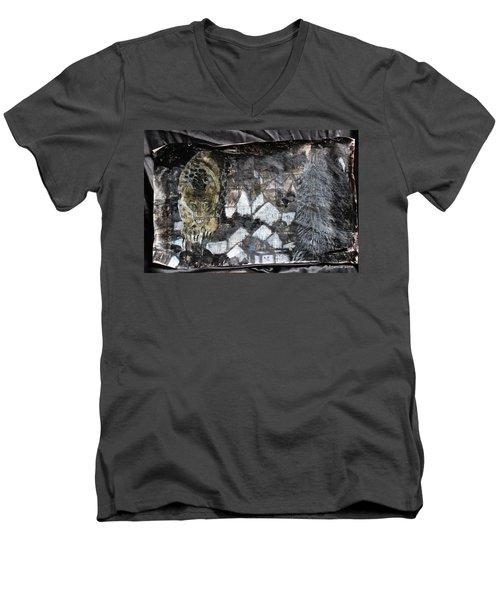 Power Strolled Onto The World Men's V-Neck T-Shirt