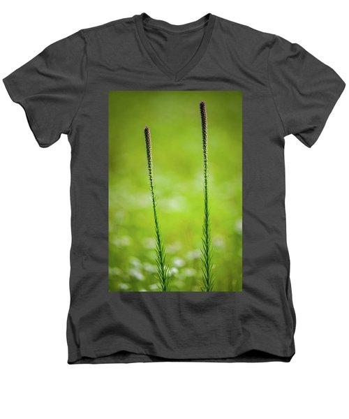 Prairie Blazing Star Men's V-Neck T-Shirt