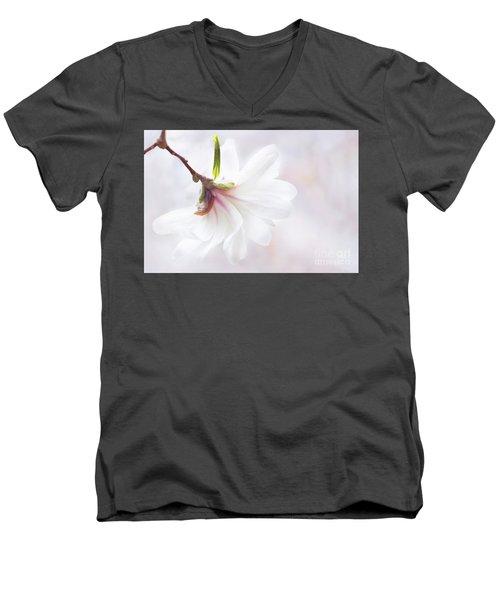 Pretty In Pastel Star Magnolia Men's V-Neck T-Shirt