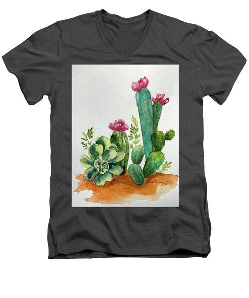 Prickly Cactus Men's V-Neck T-Shirt