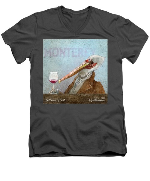 Prince Of Pinot, The Men's V-Neck T-Shirt