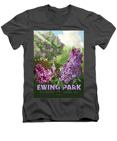 Print Men's V-Neck T-Shirt