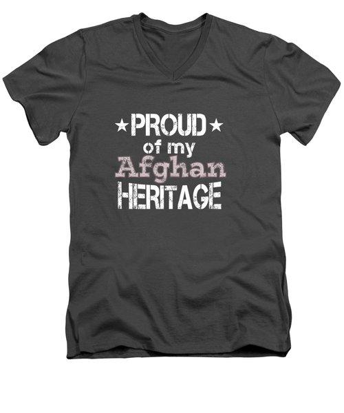 Proud Of My Afghan Heritage Men's V-Neck T-Shirt