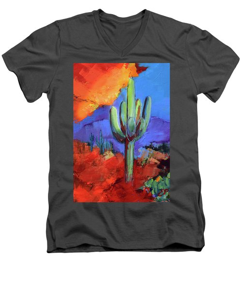 Under The Sonoran Sky By Elise Palmigiani Men's V-Neck T-Shirt