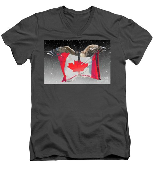 Proud To Be Canadian Men's V-Neck T-Shirt