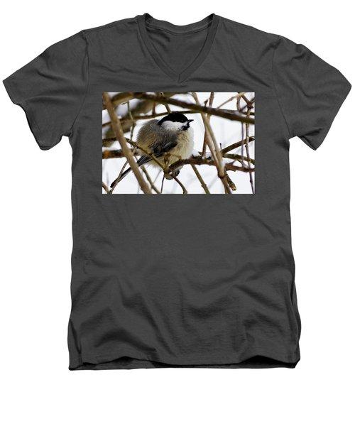 Puffed Up Men's V-Neck T-Shirt