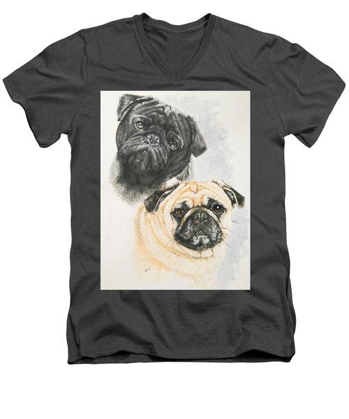 Pug Brothers Men's V-Neck T-Shirt