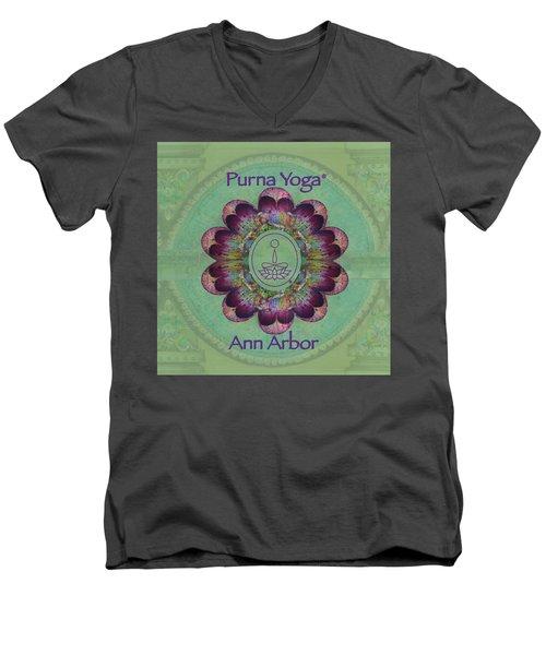 Purna Yoga Ann Arbor Men's V-Neck T-Shirt