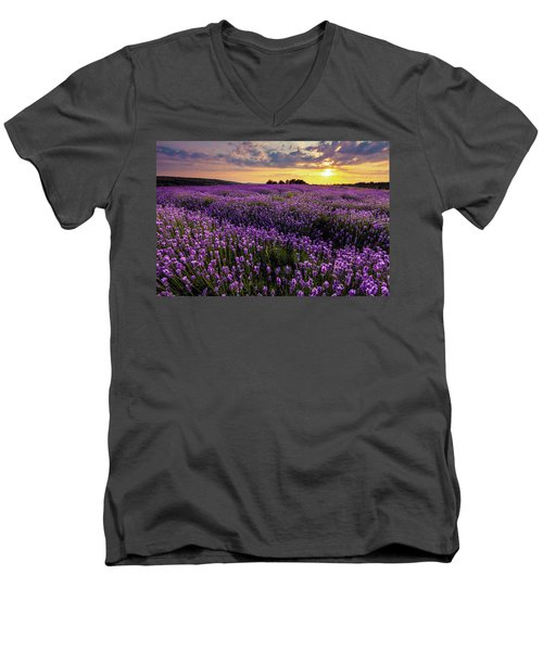 Purple Sea Men's V-Neck T-Shirt