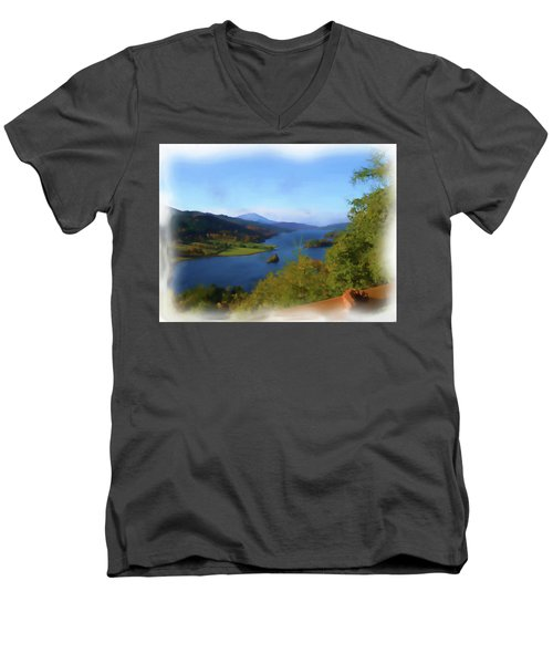 Queens View Painting Men's V-Neck T-Shirt