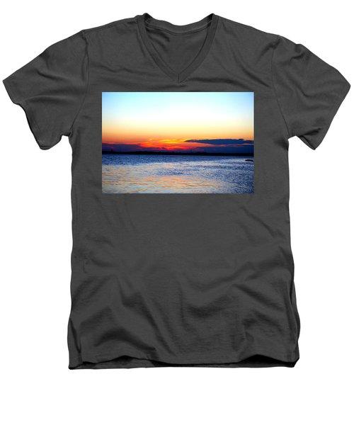 Radiant Sunset Men's V-Neck T-Shirt