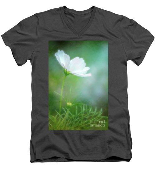 Radiant White Cosmos In The Evening Light Men's V-Neck T-Shirt