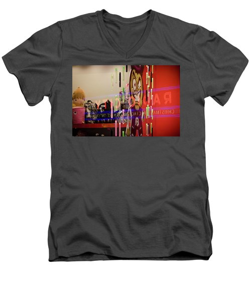 Radio City Reflection Men's V-Neck T-Shirt