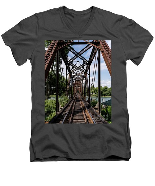 Railroad Bridge 6th Street Augusta Ga 1 Men's V-Neck T-Shirt