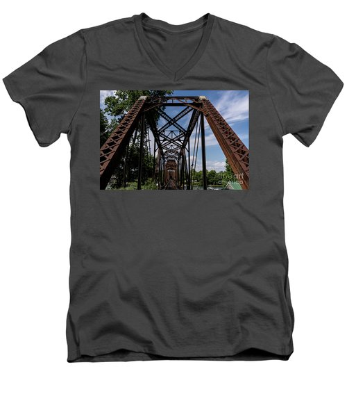 Railroad Bridge 6th Street Augusta Ga 2 Men's V-Neck T-Shirt
