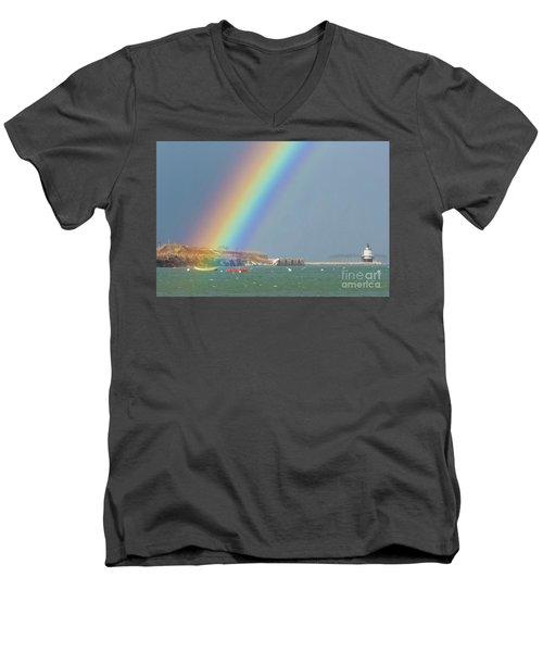 Rainbow At Spring Point Ledge Men's V-Neck T-Shirt