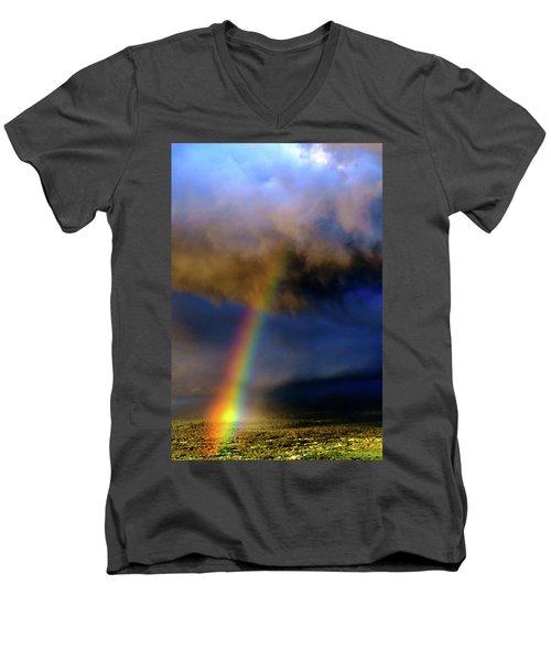 Rainbow During Sunset Men's V-Neck T-Shirt