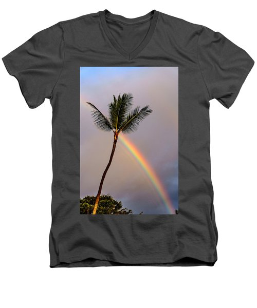 Rainbow Just Before Sunset Men's V-Neck T-Shirt