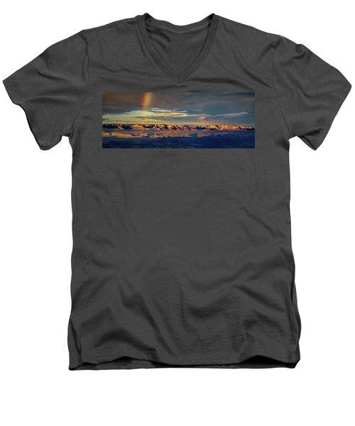 Rainbow Over Sedona Men's V-Neck T-Shirt