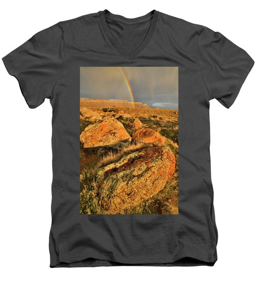 Rainbow Over The Book Cliffs Men's V-Neck T-Shirt