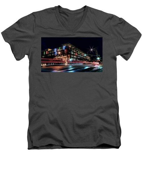 Rainy Streaks Men's V-Neck T-Shirt