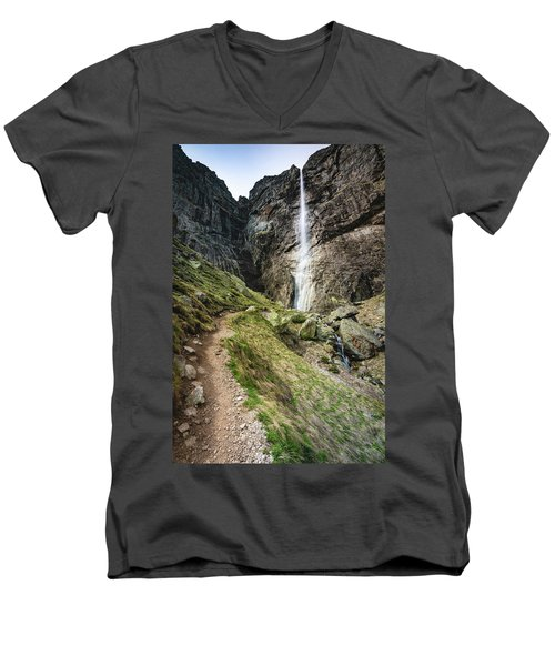 Raysko Praskalo Waterfall, Balkan Mountain Men's V-Neck T-Shirt