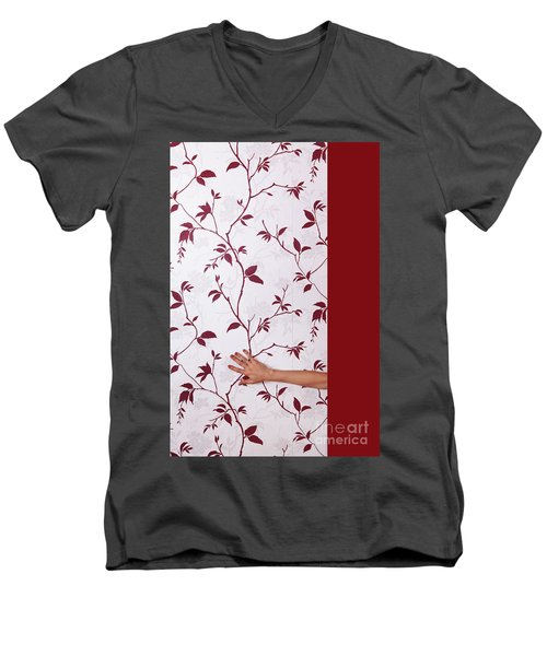 Red #0586 Men's V-Neck T-Shirt