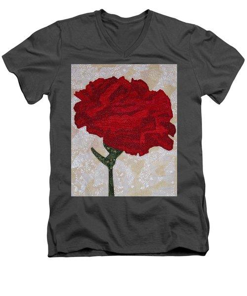 Red Carnation Men's V-Neck T-Shirt