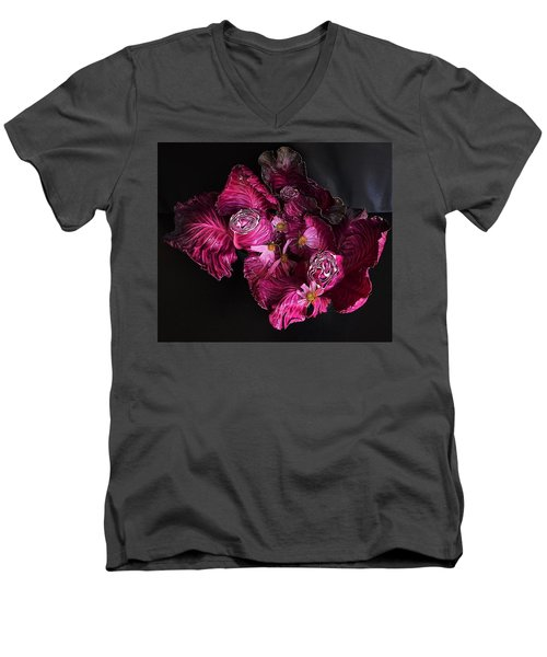 Red Cone Cabbage Men's V-Neck T-Shirt