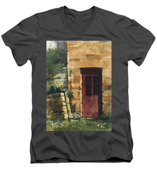 Red Door Men's V-Neck T-Shirt