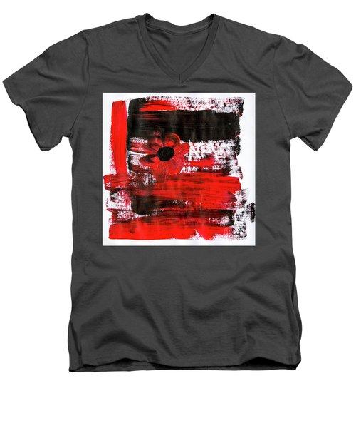 Red Flower Men's V-Neck T-Shirt