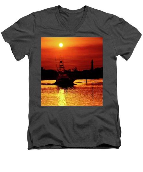 Red Sky  Men's V-Neck T-Shirt