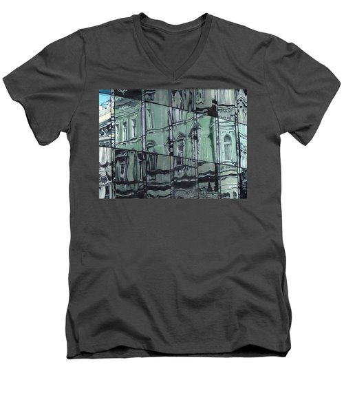 Reflection On Modern Architecture Men's V-Neck T-Shirt